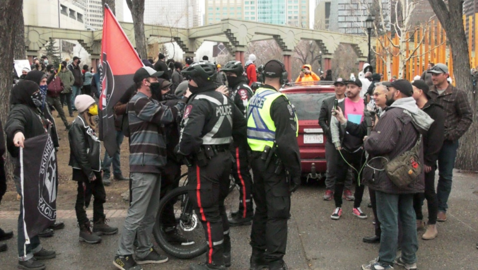 calgary, protest, anti-racism, walk for freedom, c