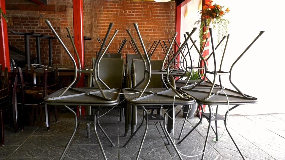 Locked up patio furniture