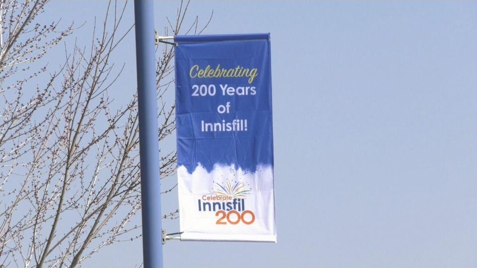 Innisfil bicentennial banner