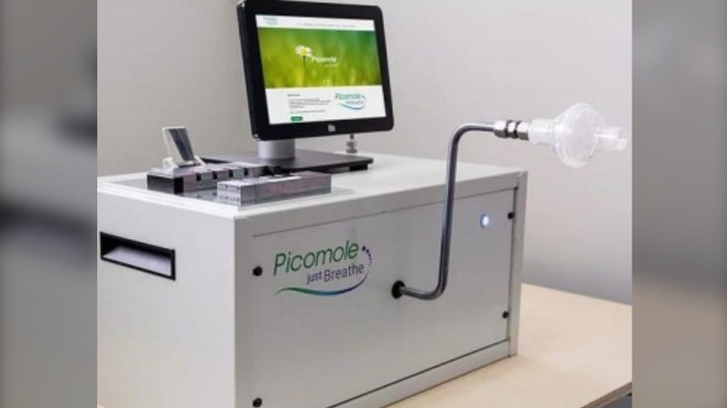Using advanced Al models capable of identifying features in breath called biomarkers, the lab then determines what molecules are in the breath sample and if they're associated with lung cancer or not. (Photo courtesy: picomole.com)