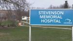 Stevenson Memorial Hospital in Alliston, Ont. (Mike Arsalides/CTV News)