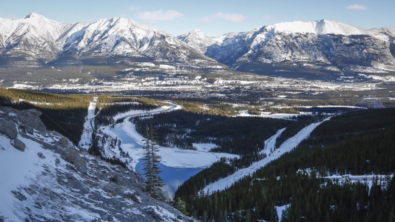 Snow-capped mountains near Canmore, Alta. can be seen in this Jan. 19, 2016 photo. A new study says mountain snowmelt is happening earlier in the year, which could have serious ecological impacts. THE CANADIAN PRESS/Jeff McIntosh