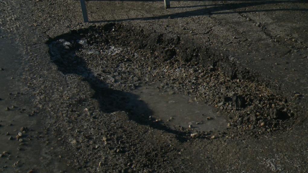 Calgary, potholes, pothole