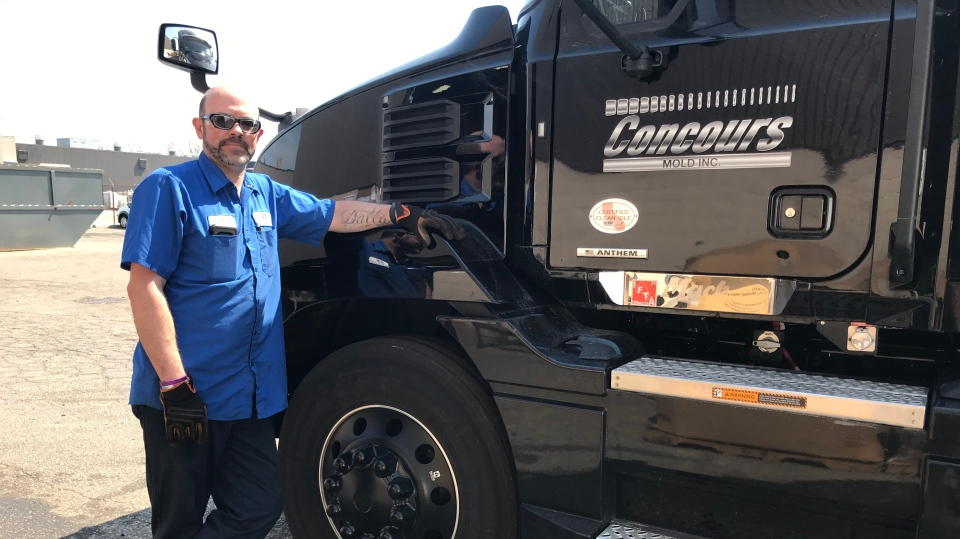 Joe Marchand, a transport truck driver with nearly 24 years experience, isn't surprised many are getting out of the industry in Windsor, Ont. on Tuesday, April 6, 2021.(Michelle Maluske/CTV Windsor)