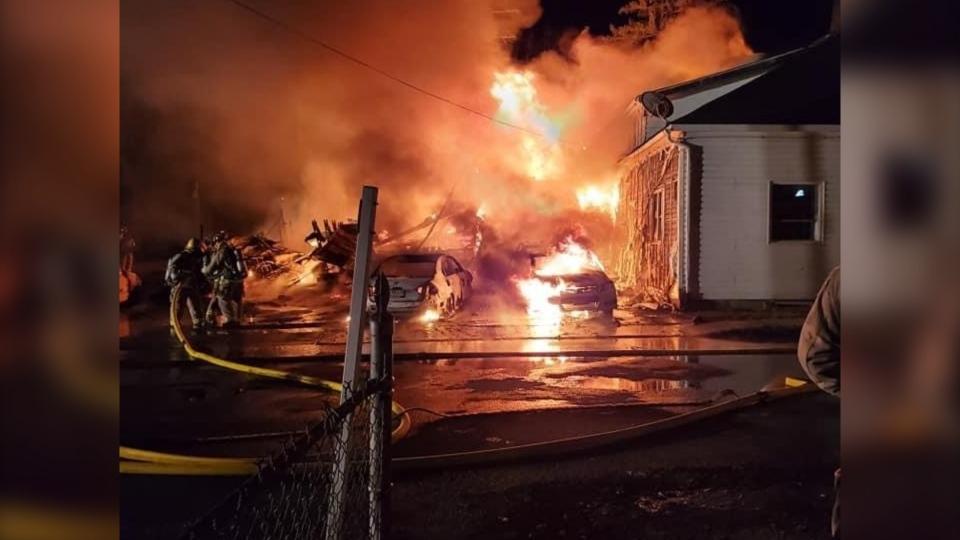 Spencerville fire