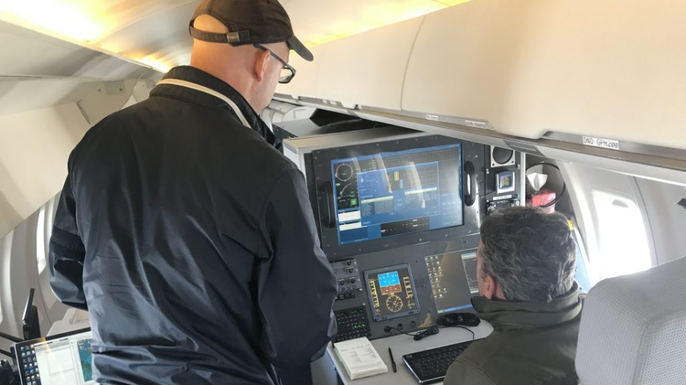 The inspection aircraft are crewed by specially trained pilots and flight inspectors and the aircraft are equipped with technology to measure and calibrate an airport's electronic navigation and landing aids. (Nav Canada)