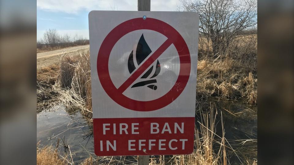 Fire ban sign