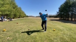 Emerald Links Golf & Country Club opened ahead of schedule. Golfer Peter Mackinnon tee's off on the back nine. Ottawa, Ont. Apr. 6, 2020. (Tyler Fleming / CTV News Ottawa)
