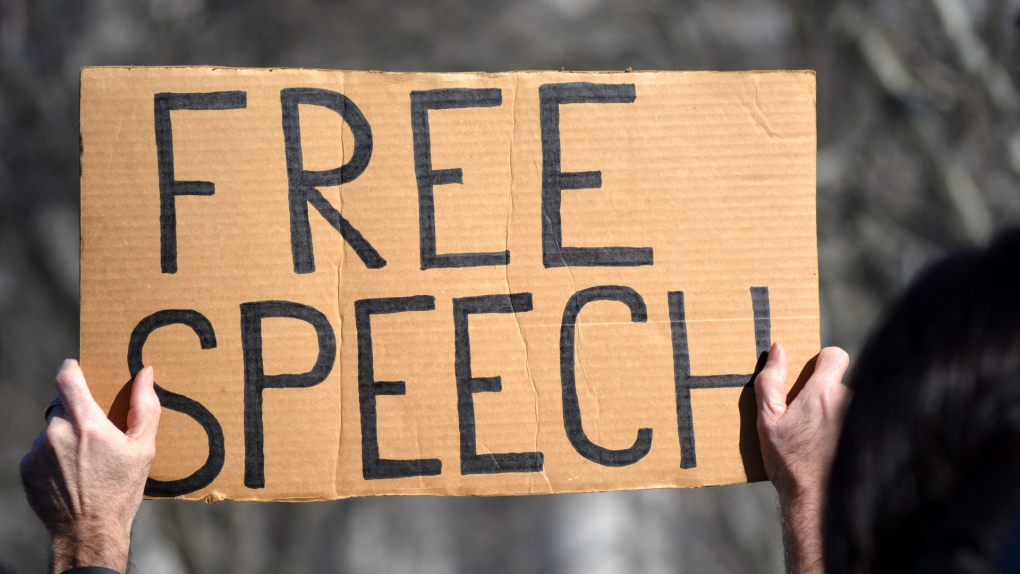 Free speech protest