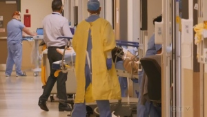 Hospital staff at Royal Victoria Regional Health Centre in Barrie, Ont. (CTV Barrie)
