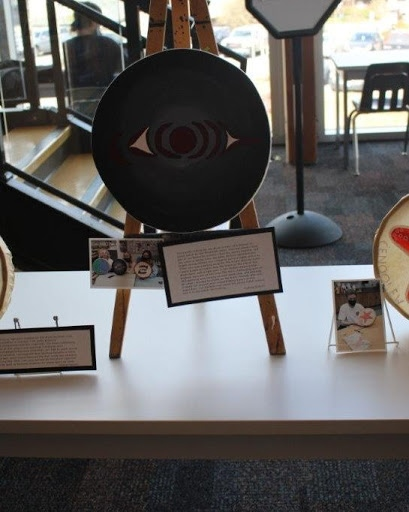 A drum made by a student during the Legacy Drum Project at Belmont Secondary School is shown: (Belmont Secondary School)