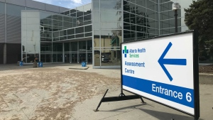 Edmonton's city manager says the EXPO Centre will be available to Alberta Health and AHS to be used as a vaccination site if and when they need it. (Galen McDougall/CTV News Edmonton)