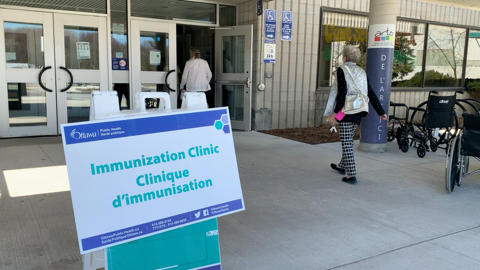 Starting Wednesday, residents of Ottawa born in or before 1961 can schedule an appointment for a COVID-19 vaccine through Ontario's online booking system.  (Jackie Perez/CTV News Ottawa)