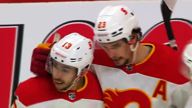 Johnny Gaudreau and Sean Monahan hope to rekindle their scoring magic now that Monahan has recovered from a painful hip injury that plagued him in 2021