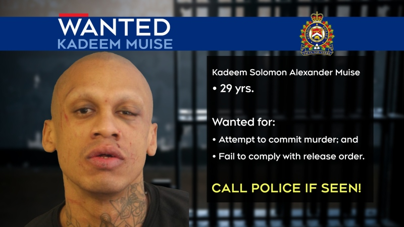Kadeem Muise is wanted by London Police Services for attempted murder in a stabbing outside Victoria Hosptial on March 11, 2021.