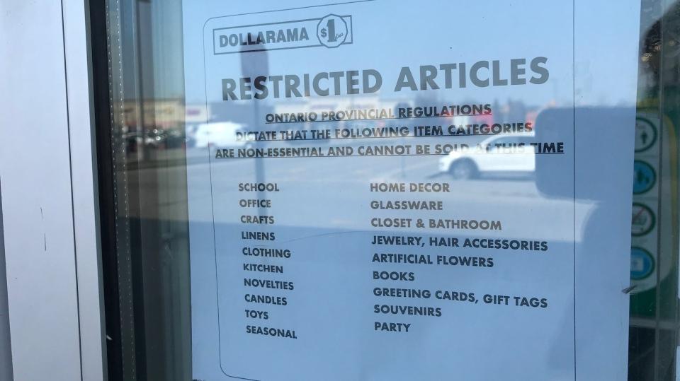 restriction list