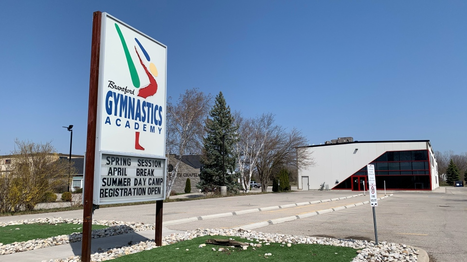 The Brantford Gymnastics Academy has closed due to the pandemic (Stephanie Villella / CTV News Kitchener)