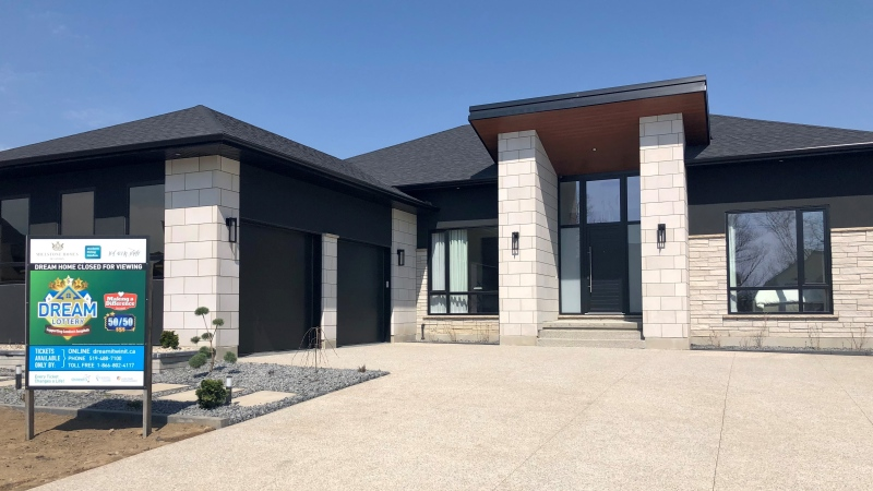 One of the big prizes for the Dream Home Lottery in London, Ont. is seen Thursday, April 8, 2021. (Jim Knight / CTV News)