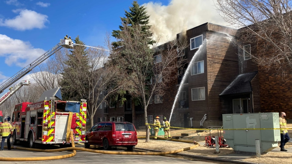 A fire broke out at Castle Court around 2:30 p.m. on Thursday, April 8, 2021.
