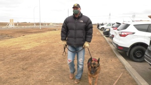 An Edmonton service dog handler is hoping his story serves to remind Alberta business owners of the rights of customers like him. (Evan Klippenstein/CTV News Edmonton)