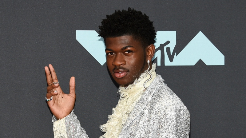 This Aug. 26, 2019 file photo shows Lil Nas X at the MTV Video Music Awards in Newark, N.J. The rapper will participate in the Class of 2020 multi-hour graduation streaming event on Facebook and Instagram on May 15. (Photo by Evan Agostini/Invision/AP, File)
