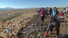 A major drought and pollution drastically reduced the size of a Bolivian lake, but volunteers are trying to make it beautiful again.