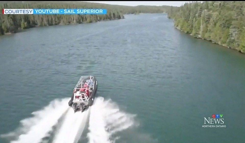 Sault Ste. Marie's picturesque waterfront will play host this summer to the Superior Rocket, a 500-horsepower Zodiac watercraft belonging to Thunder Bay-based Sail Superior Adventures. (Photo from video)