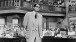"Actor Gregory Peck is seen as attorney Atticus Finch, a small-town Southern lawyer who defends a black man accused of rape, in a scene from ""To Kill a Mockingbird."" (AP / Universal, File)"