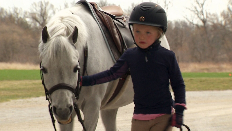 At just four years old, Ansale'wit Christmas has captured the attention of the equestrian community with her skill and passion for the sport. (CTV News)