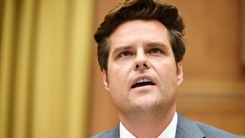 In this July 29, 2020 file photo Rep. Matt Gaetz, R-Fla., speaks during a House Judiciary subcommittee hearing on antitrust on Capitol Hill in Washington. (Mandel Ngan/Pool via AP, File)