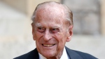 In this Wednesday July 22, 2020 file photo, Prince Philip arrives for a ceremony for the transfer of the Colonel-in-Chief of the Rifles from himself to Camilla, Duchess of Cornwall, at Windsor Castle, England. (Adrian Dennis/Pool via AP, File)