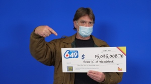 Peter Kinsman from Woodstock won more than $15M in Lotto 6/49 (Supplied: OLG)