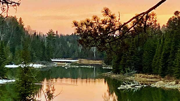 Eagle River sunsets never cease to amaze. Photo by Connie Calvert.