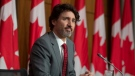 Prime Minister Justin Trudeau listens to a question during a news conference in Ottawa, Friday, April 9, 2021. THE CANADIAN PRESS/Adrian Wyld