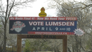 Lumsden is a finalist in the 2021 Kraft Hockeyville Competition.