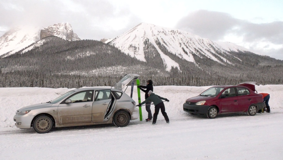 Skiers and snowboarders were out in Kananaskis Country on Friday to enjoy some new, late season snowfall. Avalanche experts are also out, checking to make sure areas are safe for recreational purposes.