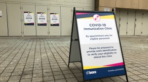 A city-run mass immunization clinic is seen in this undated photo. (Craig Wadman/CTV Toronto)