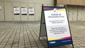 A city-run mass immunization clinic is seen in this undated photo. (Craig Wadman/CTV Toronto)