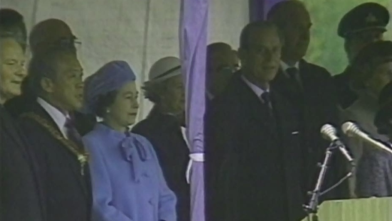 Watch archival video footage from the official opening of Sudbury's Science North with Queen Elizabeth and Prince Philip on Oct. 4, 1984. (CTV Northern Ontario)