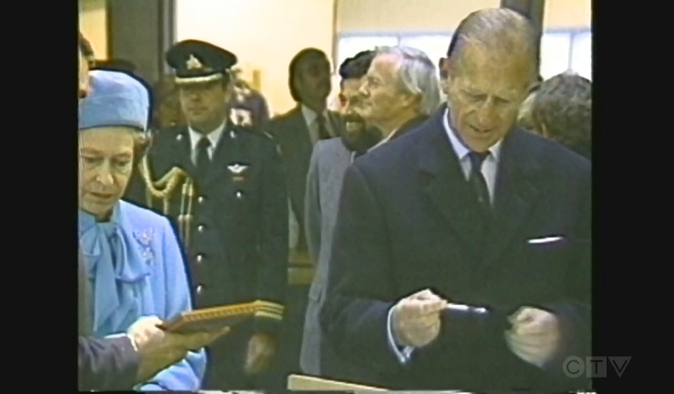 As the world mourns the death of Prince Phillip, who died Friday at the age of 99, CTV News takes you back a few decades to relive the prince's 1984 visit to Sudbury. (Photo from video)