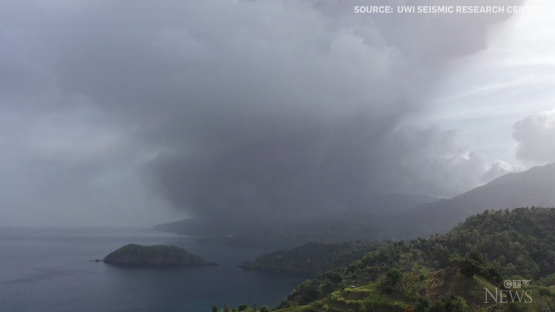 La Soufriere volcano erupted on the Caribbean island of St. Vincent on April 9.