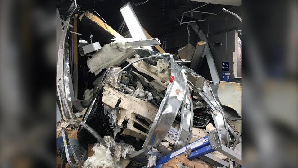 Uptown Walmart crash