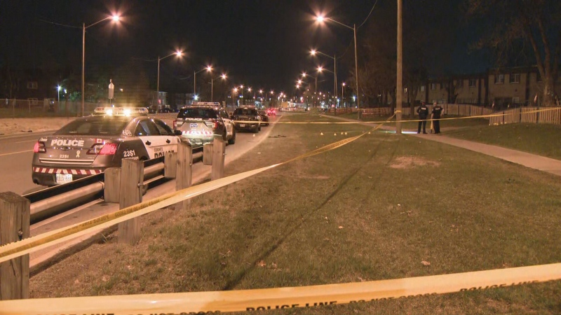 Toronto police are investigating a shooting in Etobicoke that sent a man in his 20s to hospital.