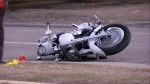 A man is in critical condition after a Friday night motorcycle crash