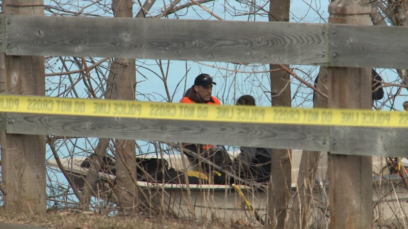 "Police scour the Saint John river for a missing man who ""entered the river"" but now cannot be found. (Photo: Laura Brown/CTV News)"