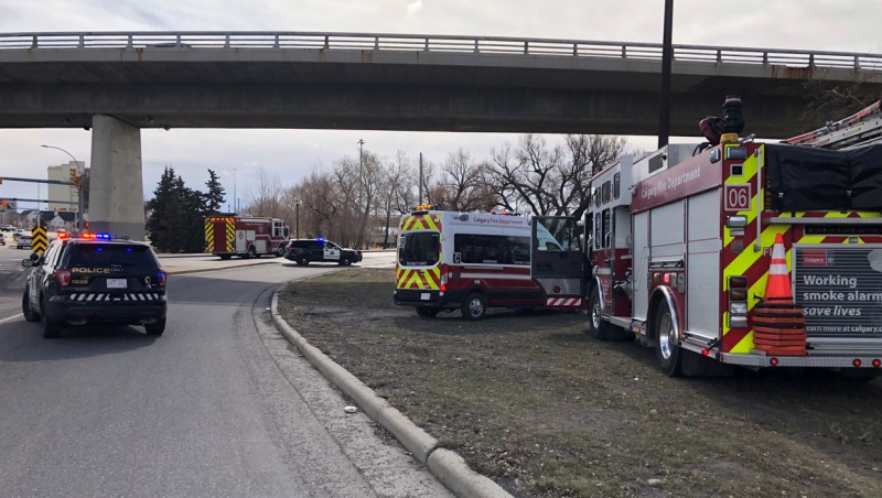 Emergency crews have blocked off a scene near the Reconciliation Bridge Saturday morning because of a suspicious package.