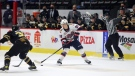 Connor Bedard (98) scored two goals, including the overtime winner, in the final game of his WHL rookie season. (Keith Hershmiller Photography/Regina Pats)