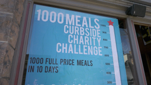 The Keystorm Pub in Brockville is hosting the 10-day challenge to support frontline storms in the city. (Nate Vandermeer/CTV News Ottawa)