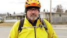 Kevin Dalton was struck by a vehicle that was turning left near Bow Trail S.W. The driver of the vehicle see him riding on his bike.