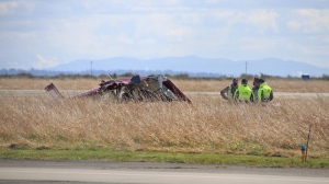 Police, firefighters and paramedics all rushed to Boundary Bay Airport in Delta on Saturday morning after receiving reports of a small plane crash. (CTV)